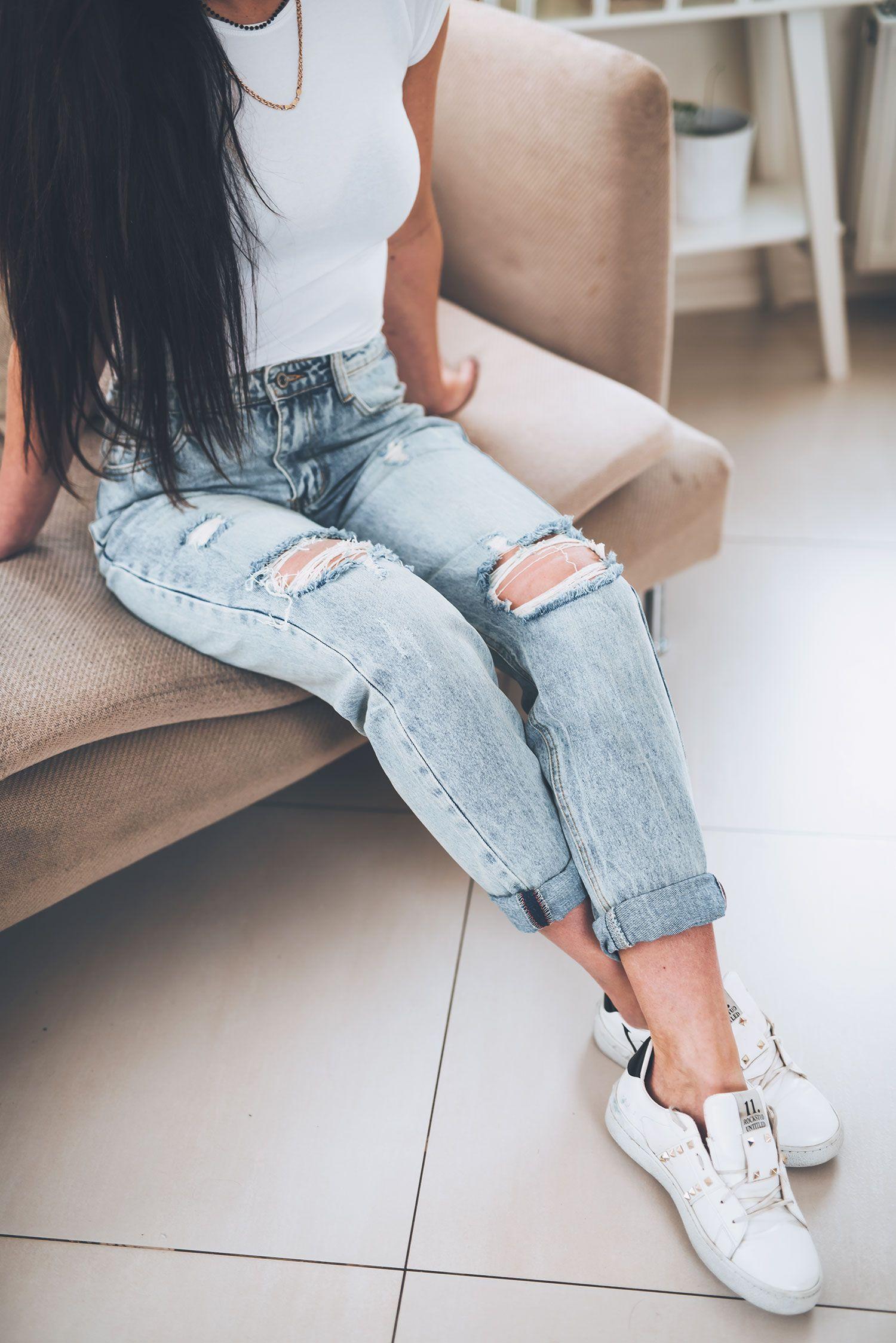 Luzne Jeansy Boyfriend Skinny Jeans Skinny Fashion
