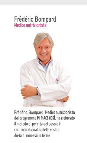 Federico Buonfiglioli, Medico nutrizionista del programma Mi Piace Così, ha elaborato il metodo di perdita del peso e il controllo di qualità della vostra dieta di rimessa in forma