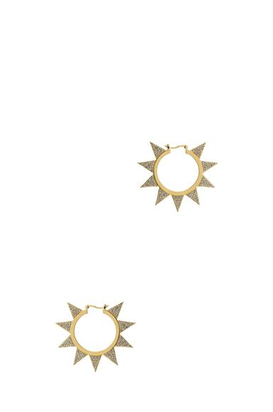 Eddie Borgo|Pave Flat Triangle Hoops in Gold [1]