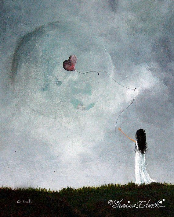 Photo of LIMITED EDITION PRINT – Erback Art – Fantasie und surreale Kunstwerke – Vollmond – Träume – Traumlandschaften – Bildende Kunst – kleine Ausgaben – Mädchen