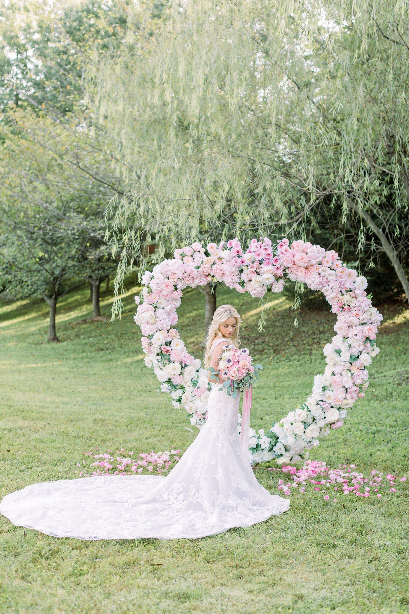 Heart Floral Arch Floral arch, Wedding, Wedding dresses lace