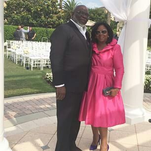Bishop T.D. and Serita Jakes at Pastor Paula White Wedding ...