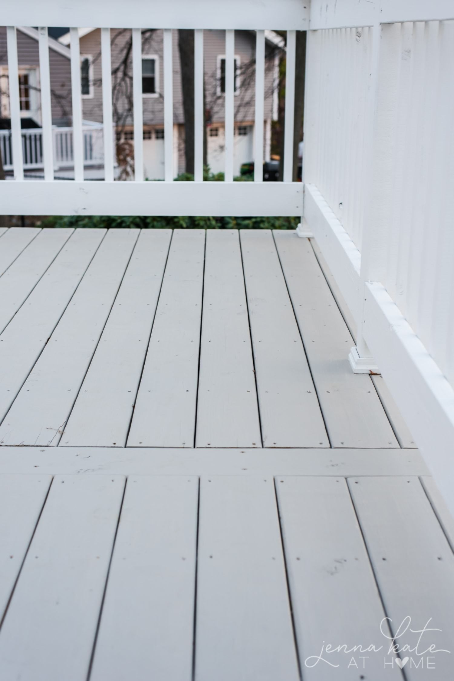 Sherwin Williams Intellectual Gray And Extra White Solid Deck Stain On New Wood Deck Staining Deck Deck Paint Deck