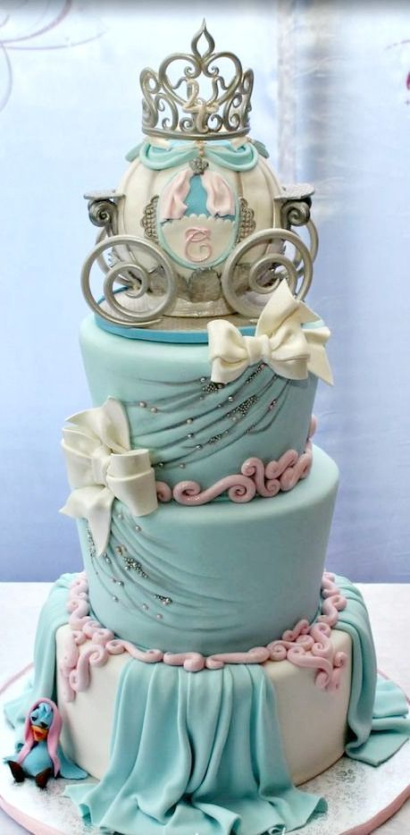 Cinderella Themed Birthday Cake Wedding cakes Pinterest