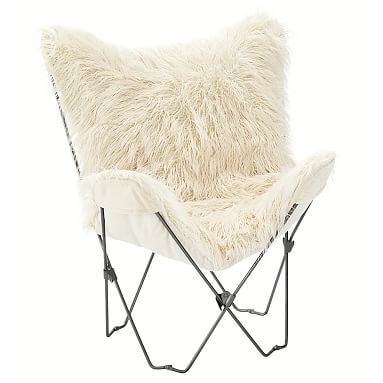 Charmant $99 Furlicious Faux Fur Butterfly Chair #pbteen