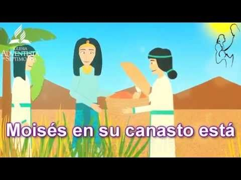 MOISÉS EN SU CANASTO ESTÁ - CANTO CUNA - AÑO B TRIMESTRE 3 - YouTube
