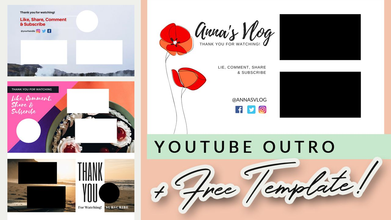 How To Create A Youtube Outro In Canva Free Editable Outro Template Social Media Tutorial Editing Tutorials Easy Tutorial