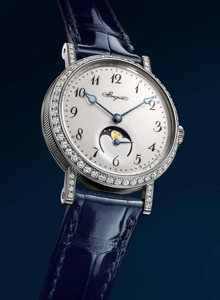 #TiempoPeyrelongue  Classique Phase de Lune Dame 9088. #Breguet #relojes #elegancia #pureza