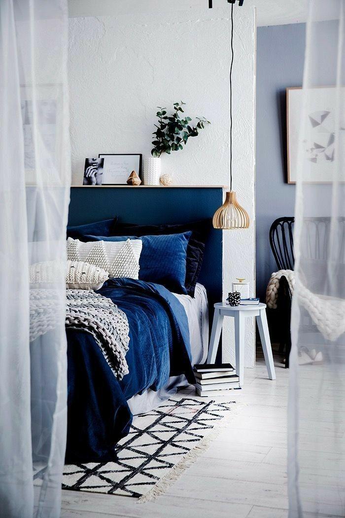 royal blue velvet bedroom bedroom Идеи домашнего декора