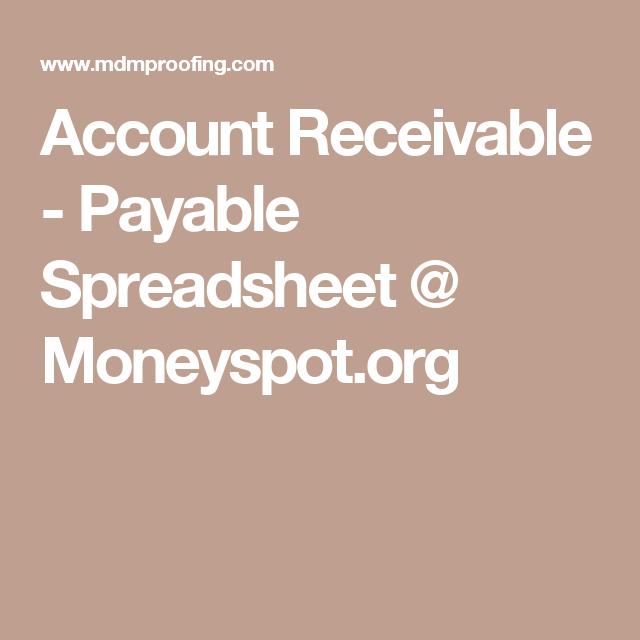 account receivable payable spreadsheet moneyspot org tax stuff
