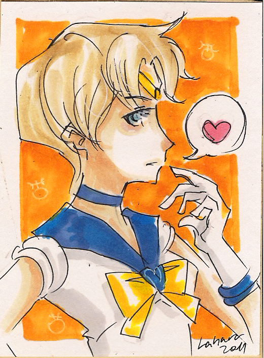 Shoujo Card - Sailor Uranus by Lahara.deviantart.com on @DeviantArt