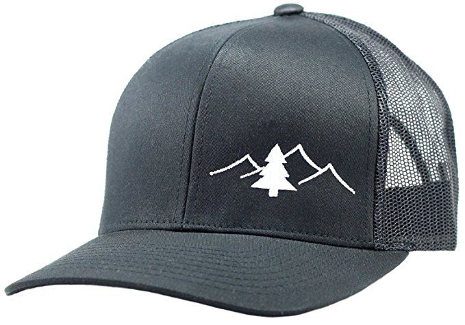 Trucker Hat - Great Outdoors Collection - by Lindo (White Blk) at Amazon  Men s Clothing store  a035d0b67e9