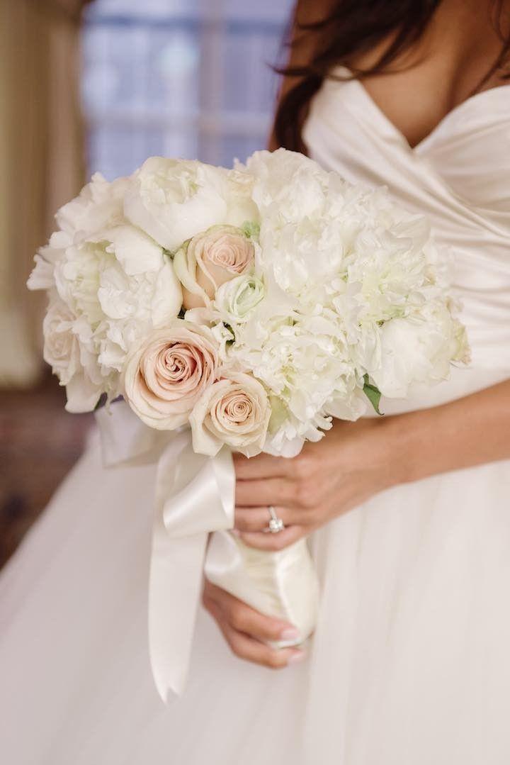 Elegant And Luxe New York City Wedding Modwedding Wedding City Wedding White Rose Wedding Bouquet