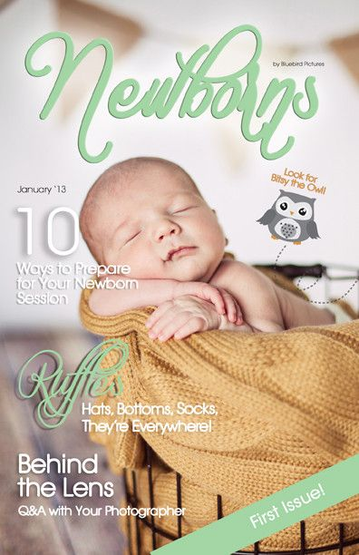 Newborn Magazine Template #teachphotographytokids ...