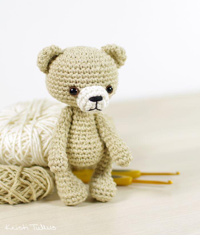 Crochet pattern: Small amigurumi teddy bear // Kristi Tullus (spire ...