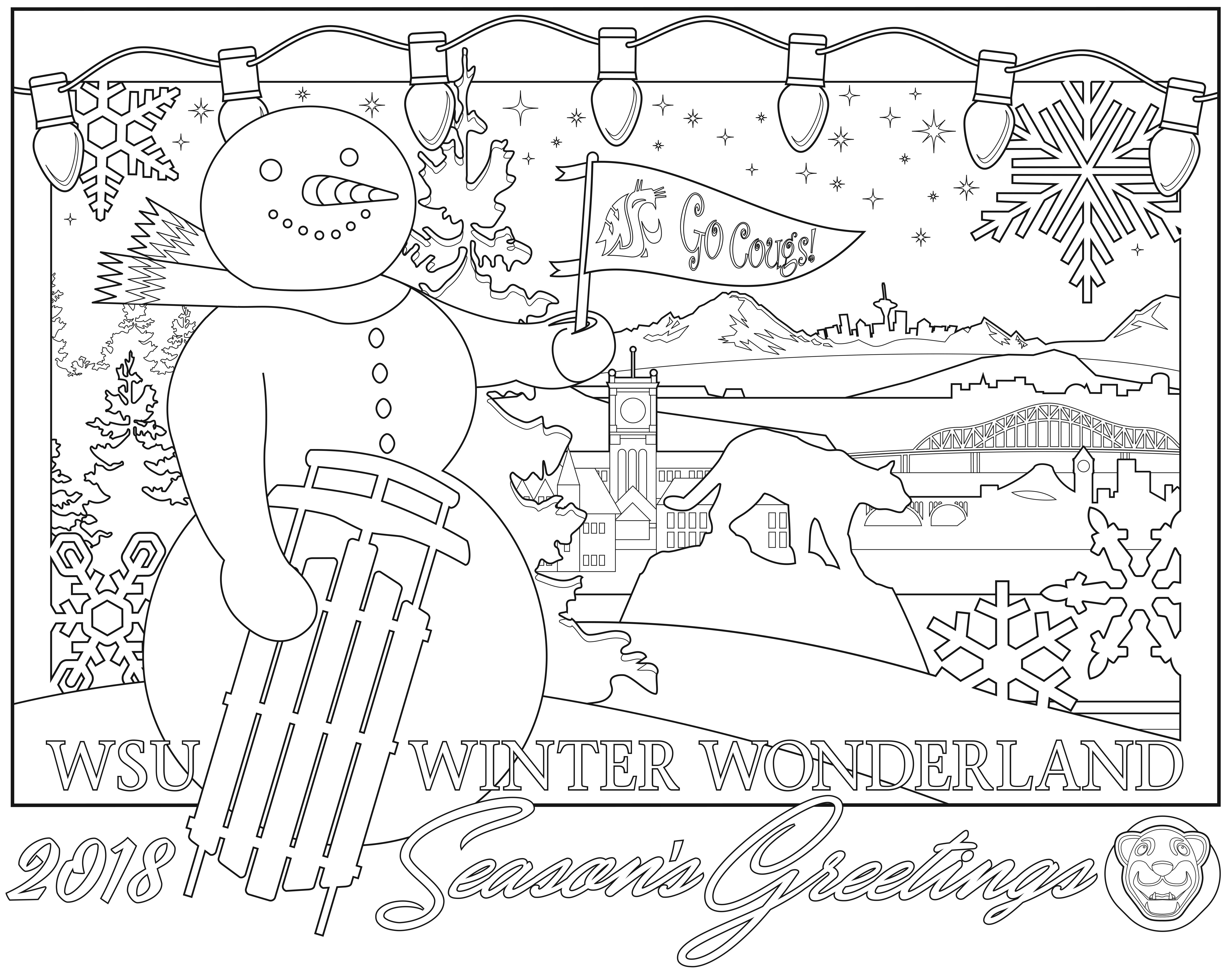 Holiday Coloring Contest Artwork