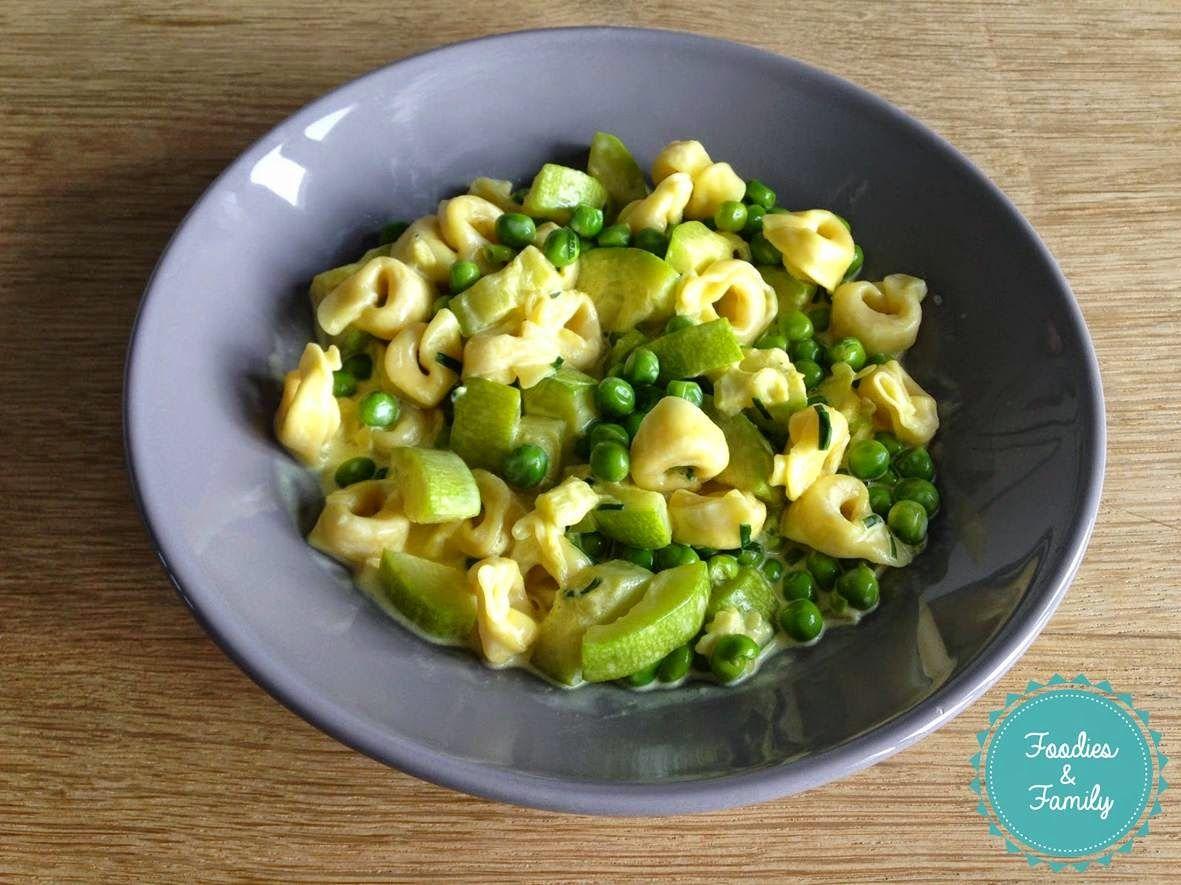 Foodies and family: Tortellinis aux légumes verts et au safran
