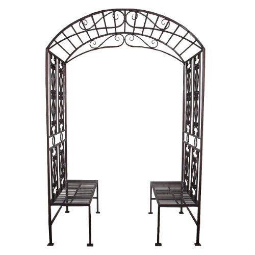 Metal Garden Arbor With Double Bench Price : $792.12 Http://www.xoticbrands