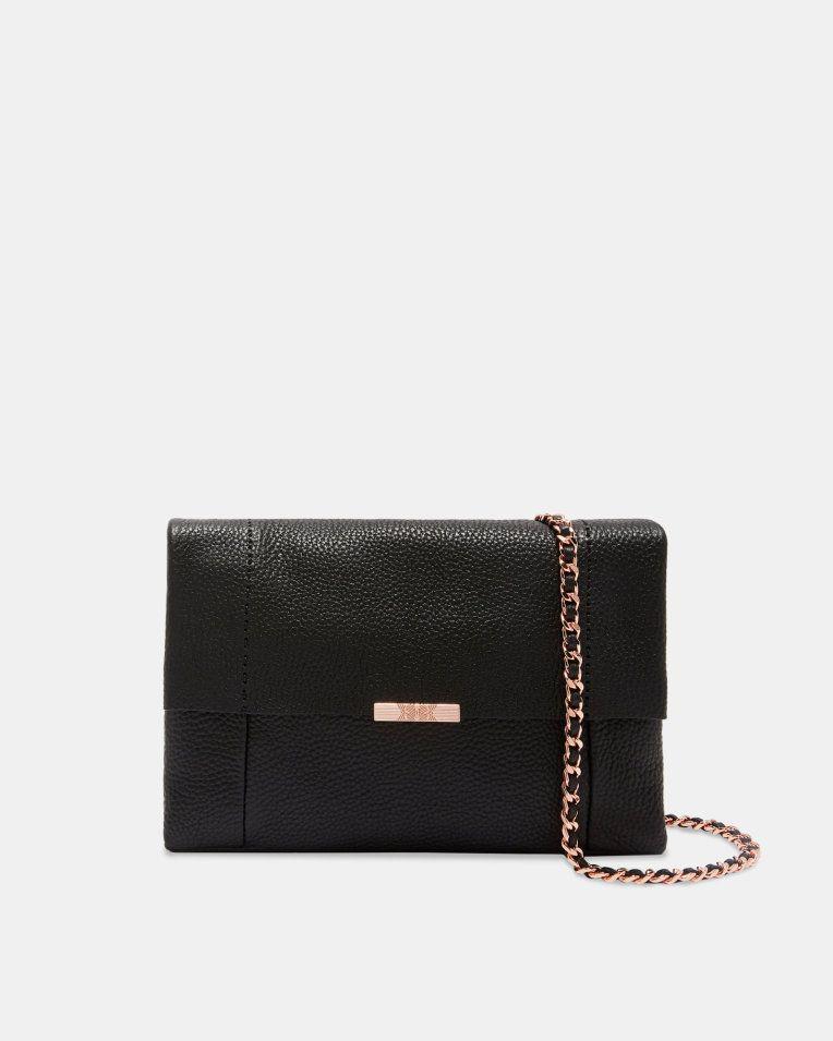 614e939df75 Leather cross body bag - Black | Bags | Ted Baker UK | Bags | Bags ...