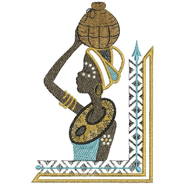 African Divas Africans Machine Embroidery And Embroidery Designs