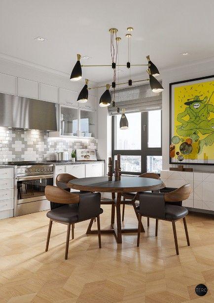explore this amazing apartment with mid century lighting mid