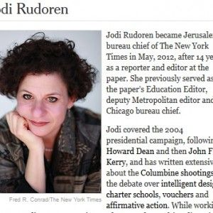 Jodi Rudoren Queen Of The JewHating Jews  Varda Epstein