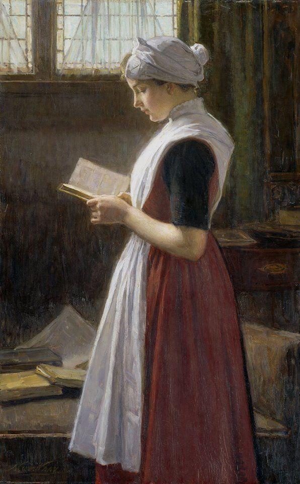 Nicolaas Van Der Waay (Países Bajos, 1855-1936) - Muchacha huérfana de Amsterdam, c. 1890-1910. Óleo sobre lienzo, 69 x 43.5 cm (Rijkmuseum - Amsterdam, Países Bajos)