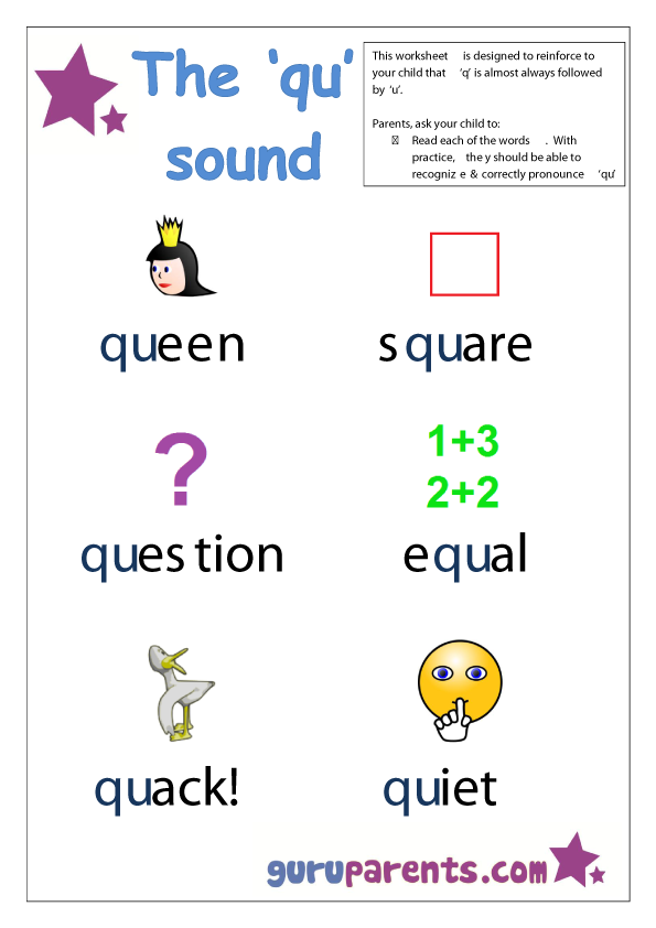 qu worksheets