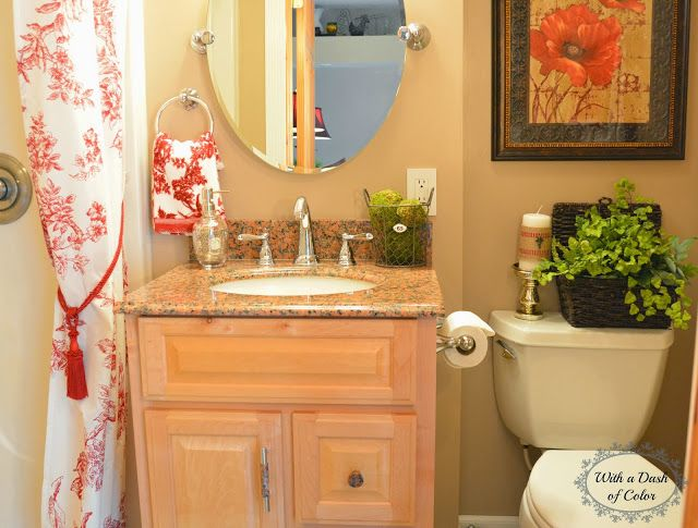 With a Dash of Color French Country Bathroom Home Pinterest