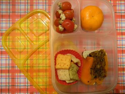 Leftover Stuffed Pepper lunch for Mommy in an Easylunchbox BRIGHTS container, from Lunches Fit For a Kid