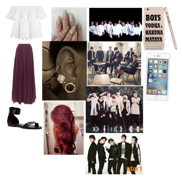 My dream outfit tonight and hanging out with exo,bts,got7, and shinee by nejlahusetovic61 on Polyvore featuring polyvore fashion style Madewell Halston Heritage Frye clothing