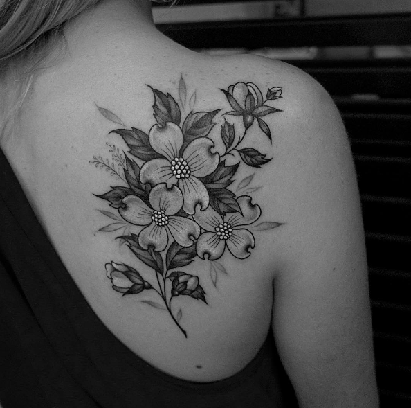 101 girly tattoos you ll wish you had this summer tatoos tattoo rh pinterest com dogwood tattoo images dogwood tattoo images