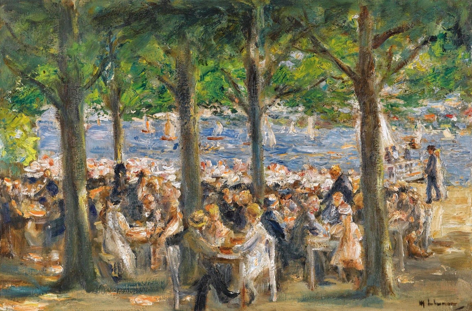 Max Liebermann, summer cafe at the Havel