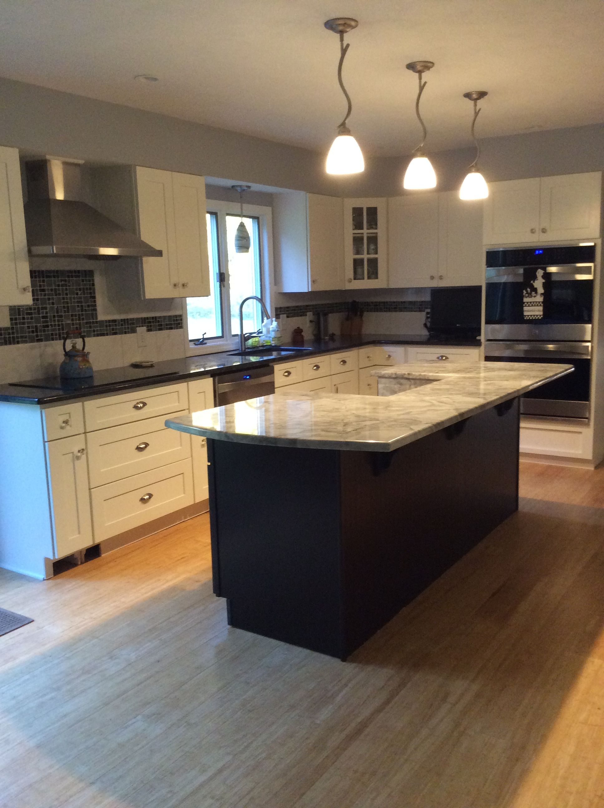Worked With Manager Bruce Berean To Design Layout Of Kitchen Cabinets On The Perimeter Of The Kitchen Using Whi Espresso Kitchen Cabinets Kitchen Plans Kitchen