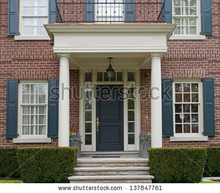 Brick Colonial Front Porch