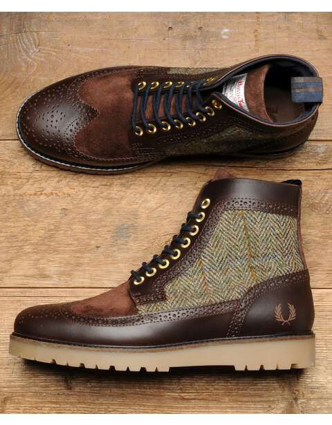 07793a53b79 Harris tweed fred perry boots | harris tweed shoes | Dress shoes ...