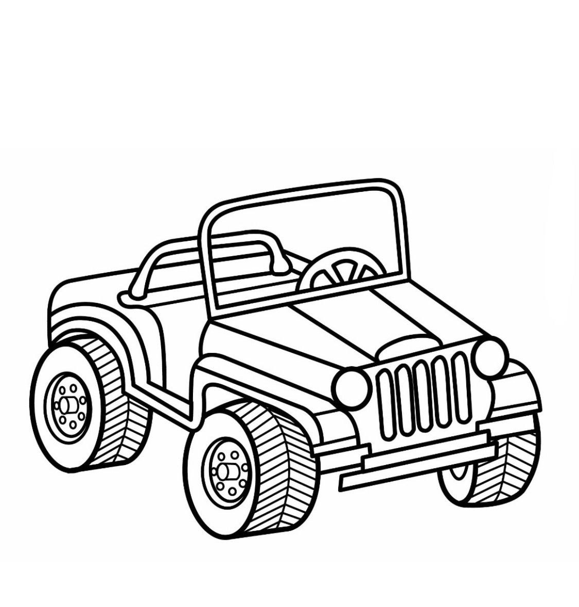 Jeep Coloring Page Coloring Pages Cars Coloring Pages Coloring