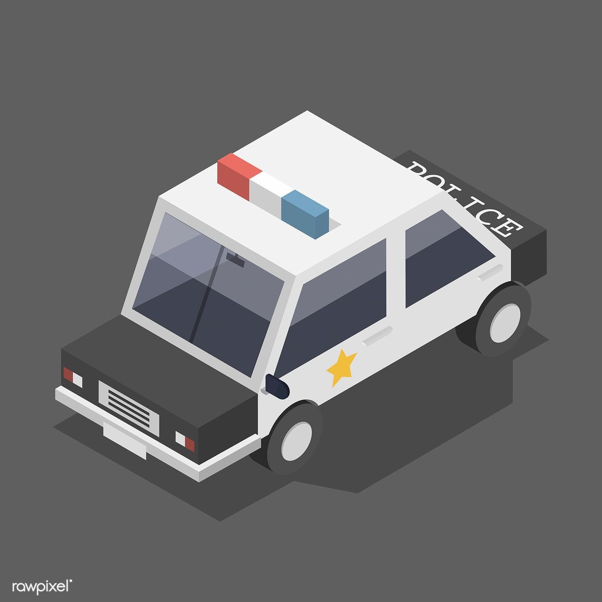 Vector Of Police Car Iocn Free Image By Rawpixel Com Police Cars Car Car Icons