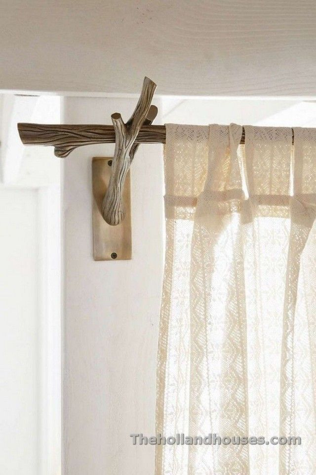 Rustic Style Curtains Forest Bedroom Branch Curtain Rods