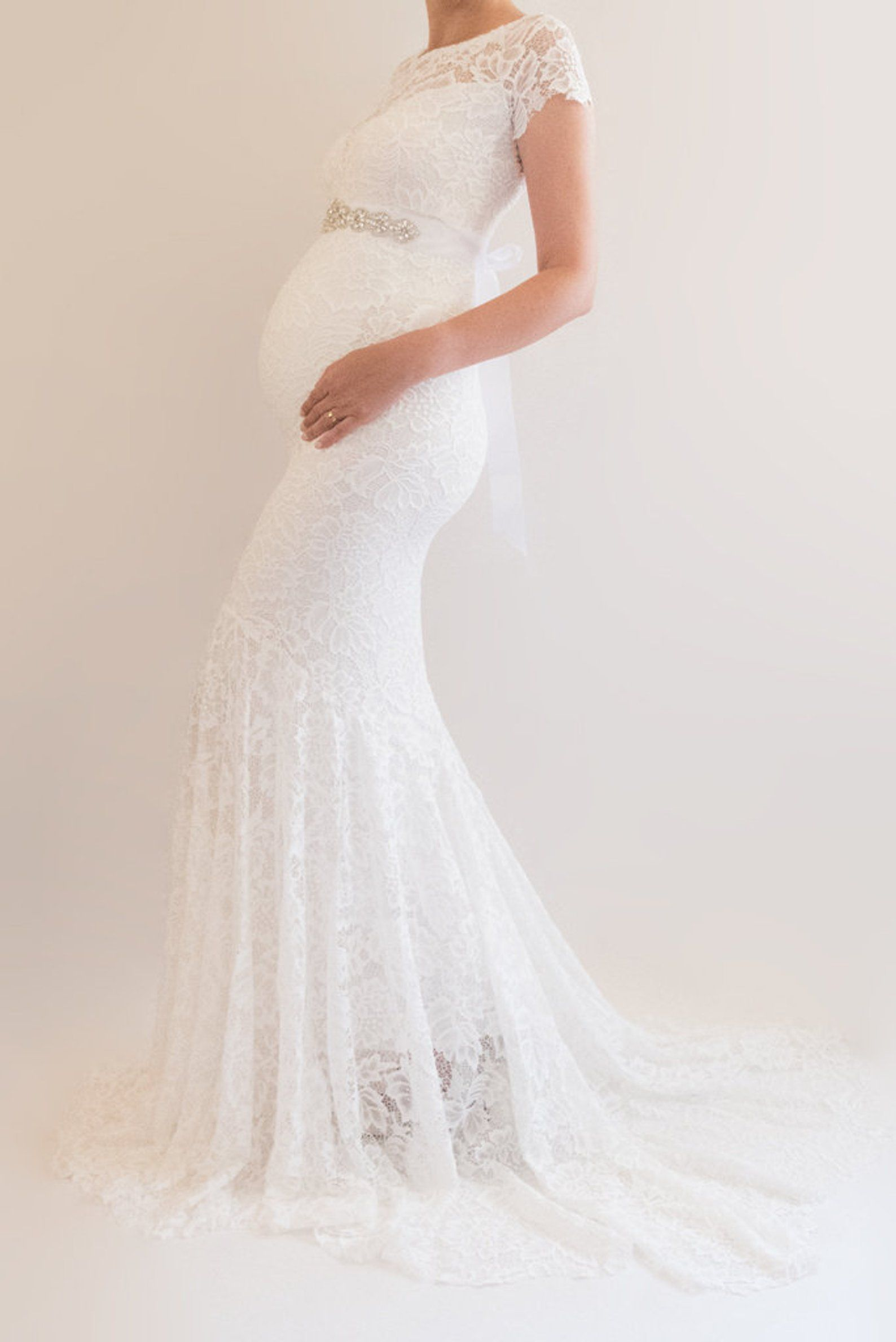 Briar Lace Maternity Wedding Dress Boho Bridal Gown Modest Etsy Modest Bridal Gowns Maternity Bridal Gowns Lace Maternity Wedding Dresses [ jpg ]