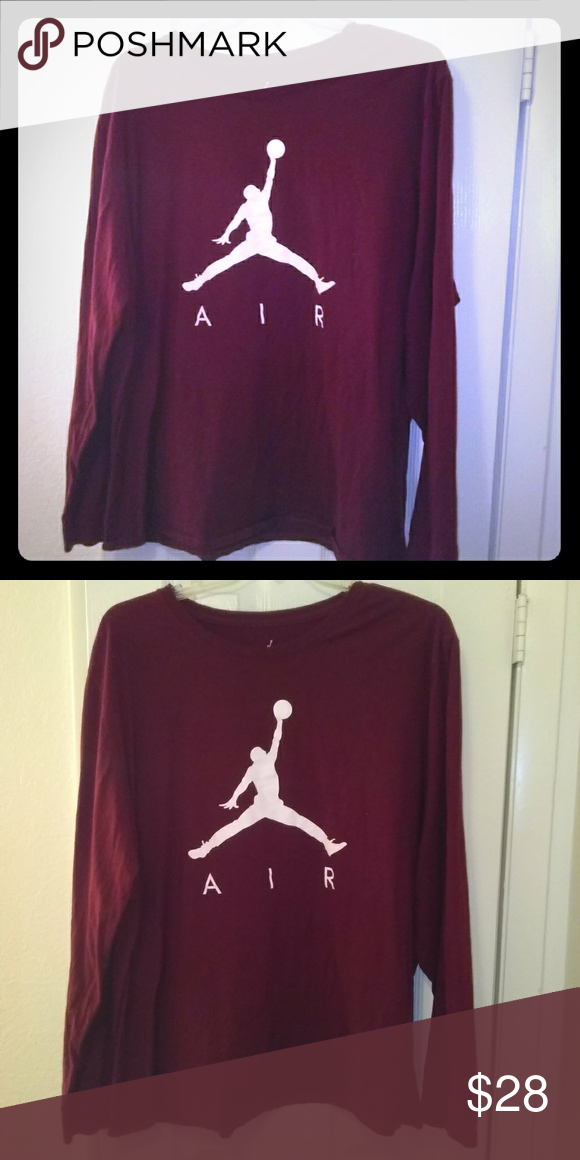 df0dee93d8ad Jordan Men s Long Sleeve Tee Matching shirt for Jordan Retro 12 Bordeaux.  Burgundy Excellent condition