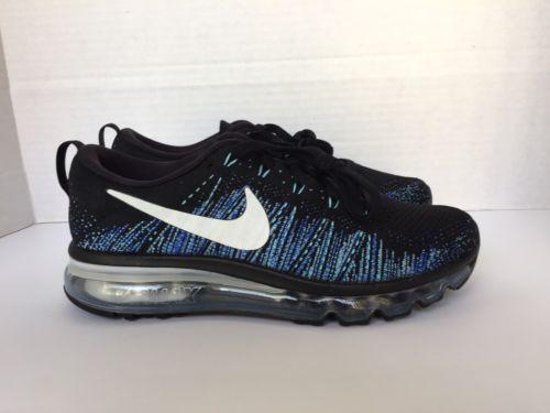 df4263eca2f ... Black and  promo code 24251 b3198 Nike Flyknit Air Max iD Mens  BlackBlue NikeiD Running Shoe 845615 993 ...