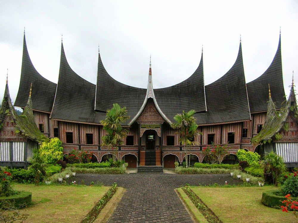 Arsitektur Rumah Adat Indonesia Provinsi Padang Home Design And