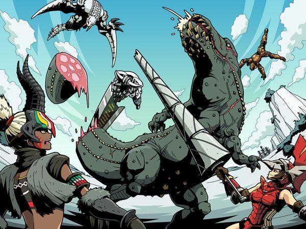 Monster Hunter Vs Barioth And Deviljho Monstruos Marinos