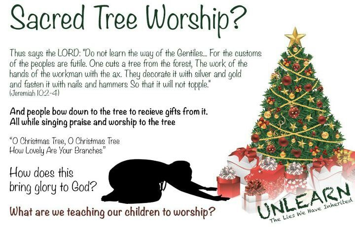 Pagan (non-Christian) idols (xmas trees, easter eggs, the cross, etc ...
