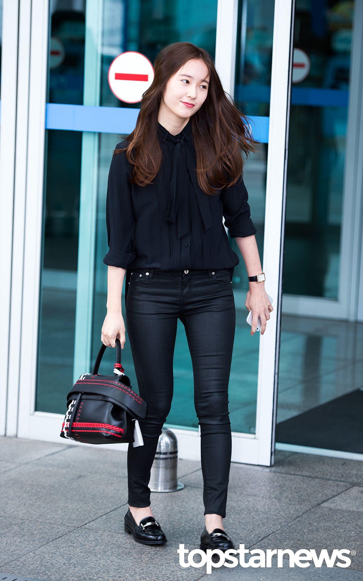 Krystal Krystal Jung And Jung Soo Jung Fashion Airport Kpop Pinterest Krystal