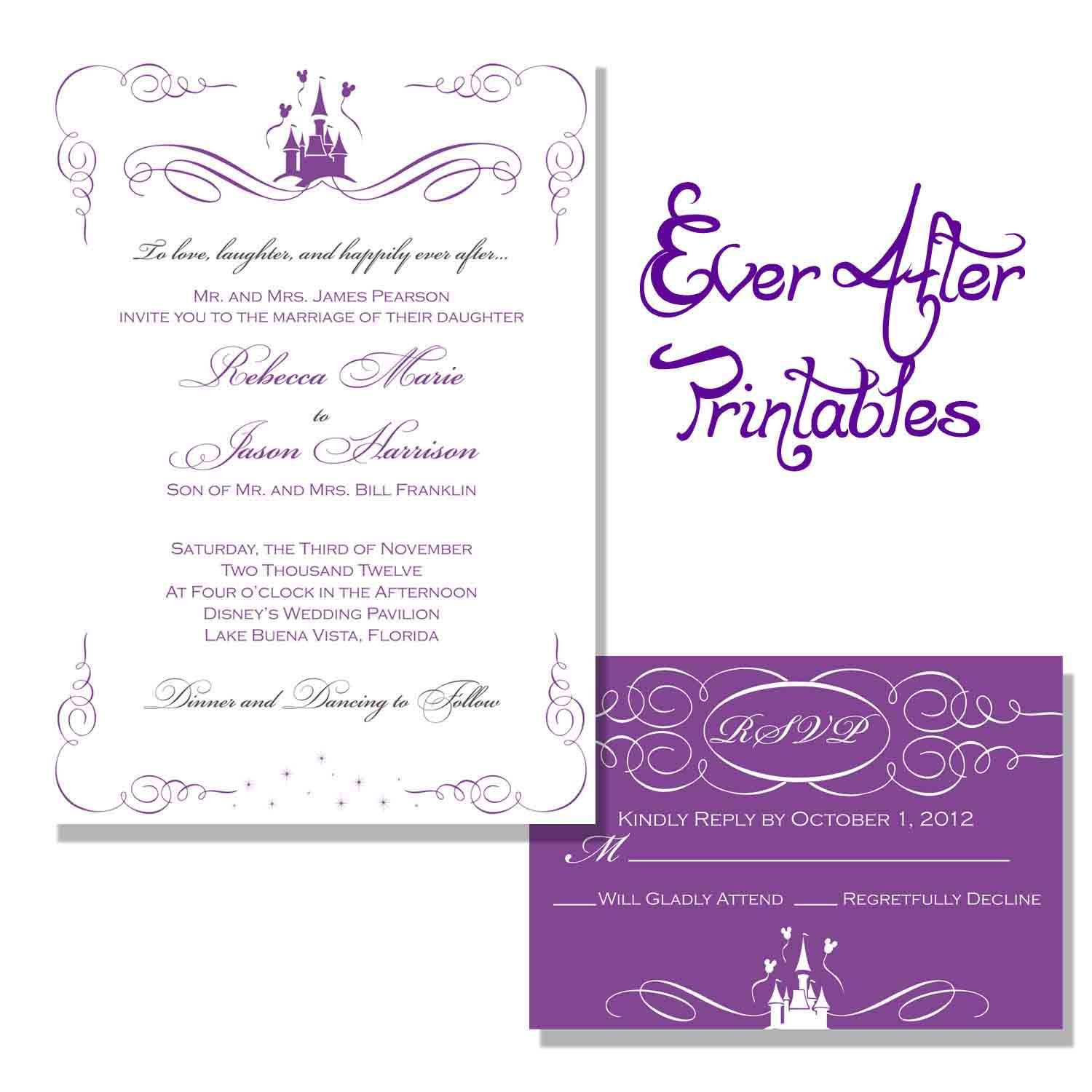 Wedding Invitation Wording Wording Getting Hitched Pinterest - Wedding invitation templates: disney wedding invitation templates