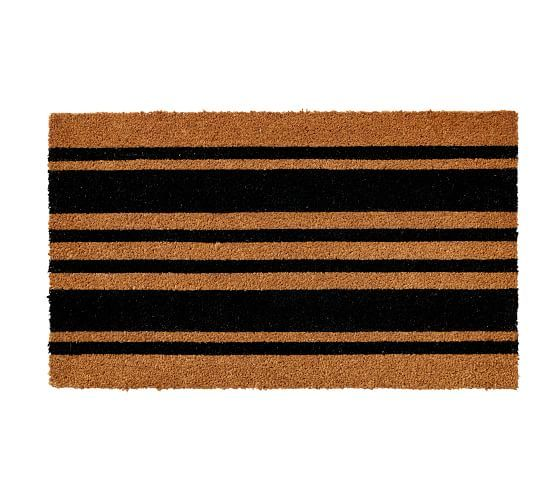 Stripe Doormat 18x30 Black In 2020 Pottery Barn