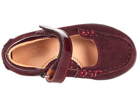 Venettini Kids 55-Rachel FA 2012 (Infant/Toddler) Bordeaux Suede/Black Leather