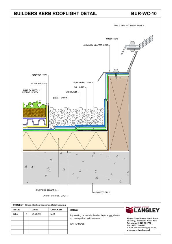 Green Roofing Detail Drawings Langley Waterproofing